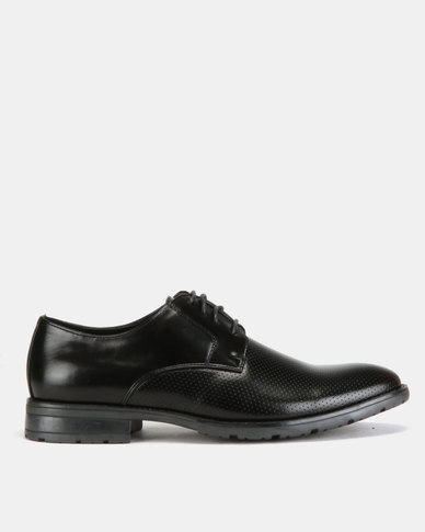 Utopia Formal Pin Punch Lace Ups  Black