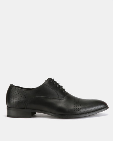 Utopia Formal Lasered Lace Ups Black