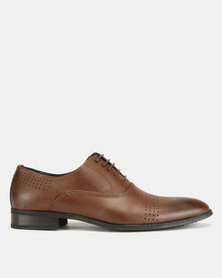 Utopia Formal Lasered Lace Ups Brown