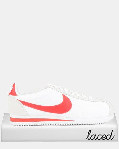Nike Classic Cortez Nylon Sneakers White/Habanero Red