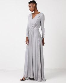 Lunar Long Sleeve Nina Dress Blue Mist