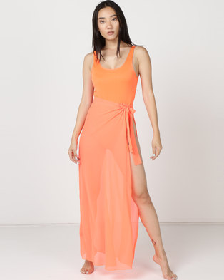 Thabooty's Explosion With Skirt One Piece Orange