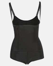 Thabooty's Kemela Bodysuit With Bum Padding Shapewear Black