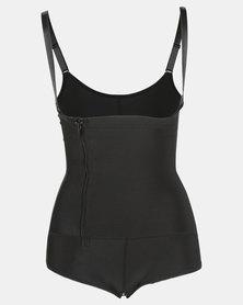 Thabooty's Kemela Bodysuit With Bum Padding Shapewear Black