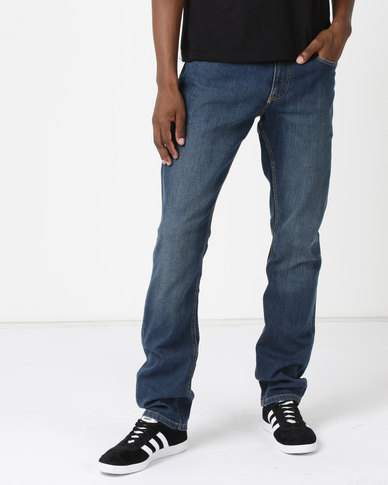 Soviet M Deyna Slim Leg Denim #9 Jeans Indigo