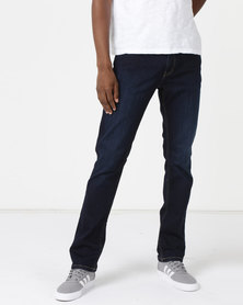 Soviet M Deyna Slim Leg Denim #9 Jeans Dark Indigo