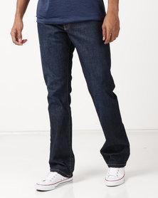 Soviet M Mario 2 #12 Straight Leg Rigid Denim Jeans Dark Indigo