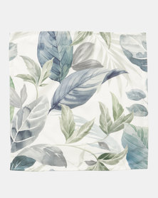 Grey Gardens Winter Leaves Scatter Cushion Cover Blue