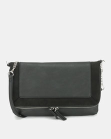 New Look Brandy Plain Crossbody Bag Black