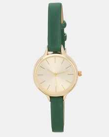 New Look Ec June Bug Greens Strap Watch Mid Green