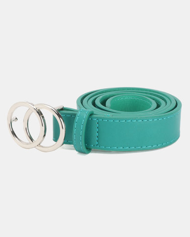 New Look Circle Belt Mid Green