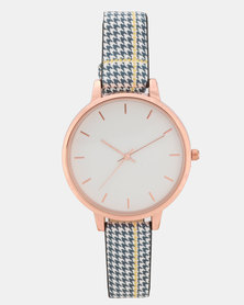 New Look Check Strap Watch Multi