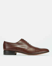 Barker Buffcalf Lace Up Teak Brown