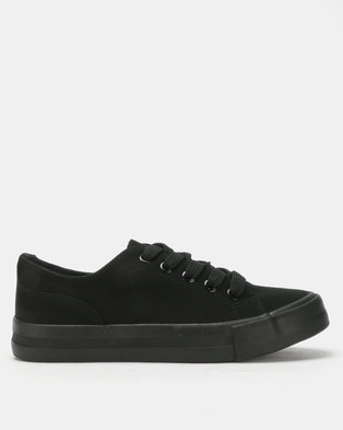 New Look Basic Lace Up Sneakers Black