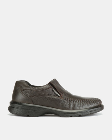 Grasshoppers Almar Chevro Slip Ons Brown G/H