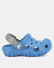 Crocs Kids Swiftwater Clogs Blue Jean/Slate Grey