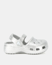 Crocs Kids Karin Sparkle Clogs Silver