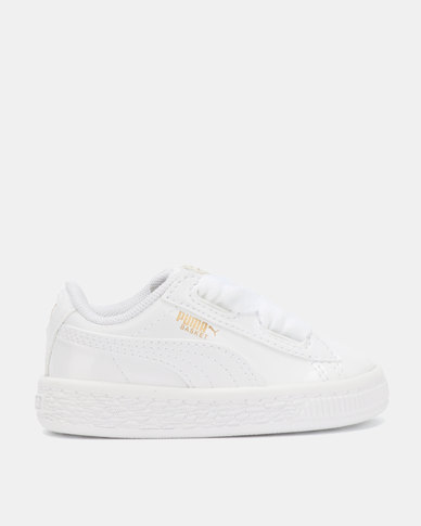 more photos c4a81 5b3fe Puma Sportstyle Core Basket Heart Patent Inf Sneakers Puma White