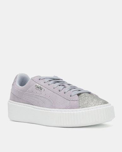 Puma Sportstyle Core Suede Platform Glam Jr Sneakers Puma Silver-Icela  de839a97e31e