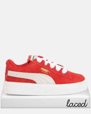 fc246f5e030a Puma Sportstyle Core Suede Infant Sneakers High Risk Red White