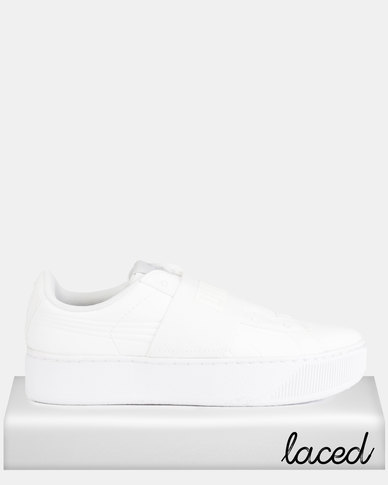 0db7a5cc2b234f Puma Sportstyle Core Vikky Platform Elastic Sneakers White