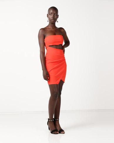 Sissy Boy Twin Set Midi Dress Tangerine