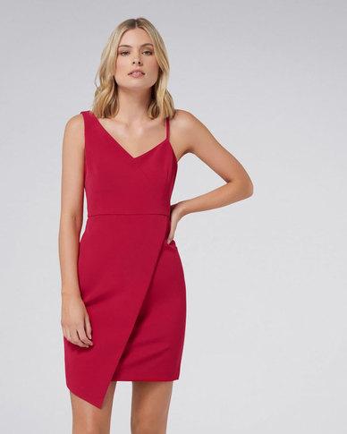 52f52f52 Forever New Paige Asymmetric Hem Dress Red | Zando