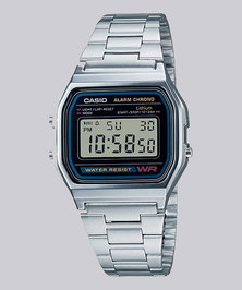 Casio Unisex Digital Silver Retro Watch