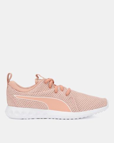 4502895f9a Puma Performance Carson 2 Nature Knit Running Shoes Pearl Peach