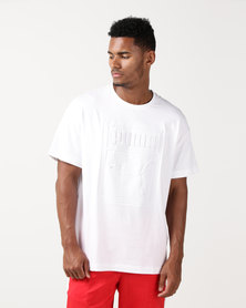 Puma Sportstyle Prime Archive Embossed Print Tee White