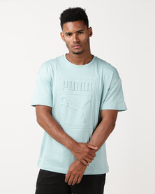 Puma Sportstyle Prime Archive Embossed Print Tee Blue/Green