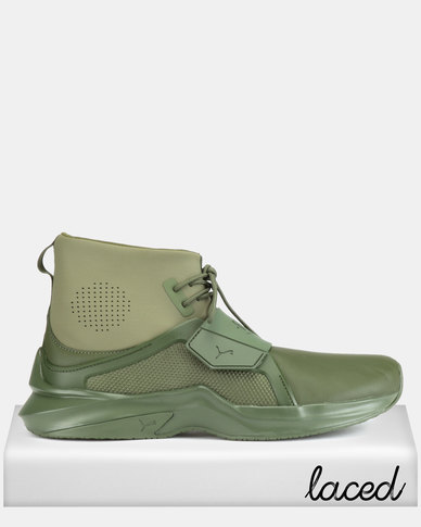 cheap for discount 482c3 9533e Puma Performance The Trainer Hi by Fenty Mens Sneakers Cypress