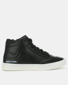 North Star Ladies High Top Sneakers Black