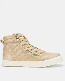 North Star Ladies High Top Sneakers Natural