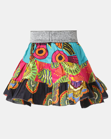 Kieke Print Tiered Skirt Multi