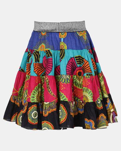 Kieke Print Tiered Skirt Multi