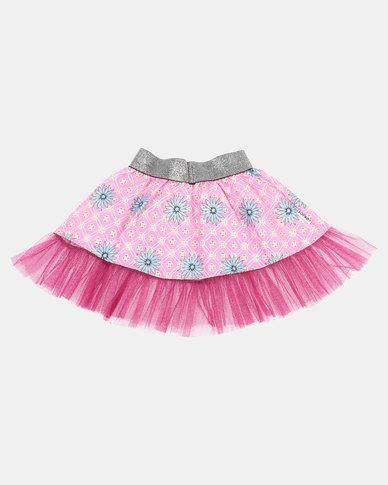 Kieke Printed Skirt Frill Pink