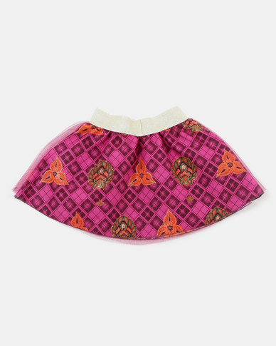 Kieke Printed Skirt Ovelay Pink