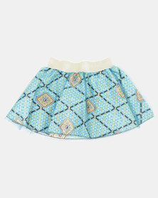 Kieke Printed Skirt Ovelay Blue