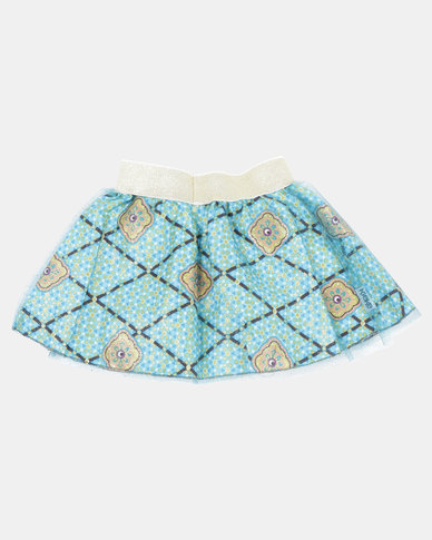 Kieke Printed Skirt Ovelay Blue
