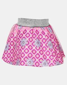 Kieke Printed Skirt Overlay Purple