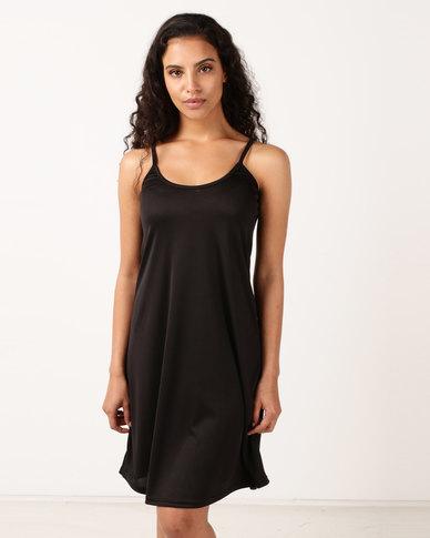 Nucleus Slip Dress Black