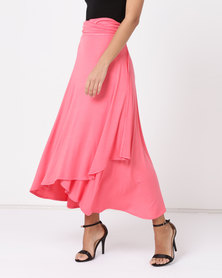 Nucleus Wrap Skirt Coral