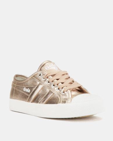 95d87906c2d5 Gola Coaster Met Sneakers Rose Gold