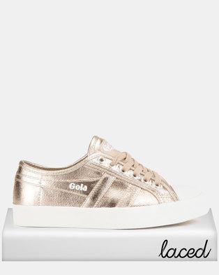 74f1fb18370 Gola Coaster Met Sneakers Rose Gold