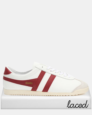 Gola Bullet Leather Sneakers White/Jester Red