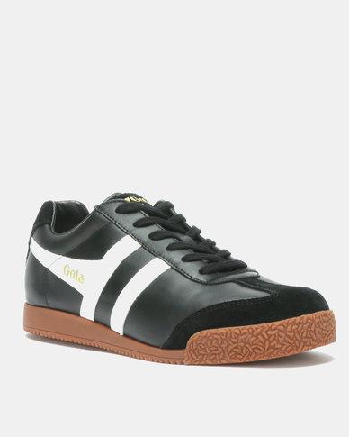 Gola Harrier Leather Sneakers Black/White