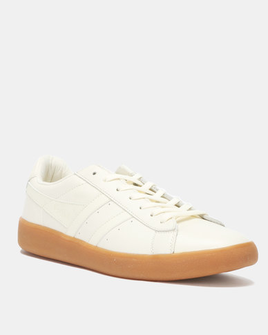 Gola Aztec Leather Sneakers Off White