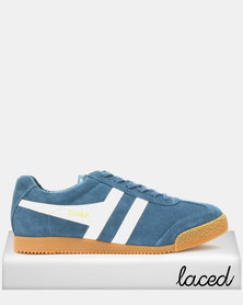 Gola Harrier Suede Sneakers Baltic White