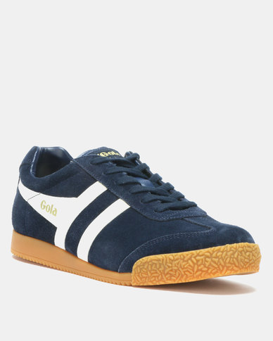 Gola Harrier Suede Sneakers Navy/Off White